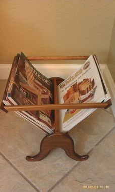 Custom Made Magazine Or Book Rack