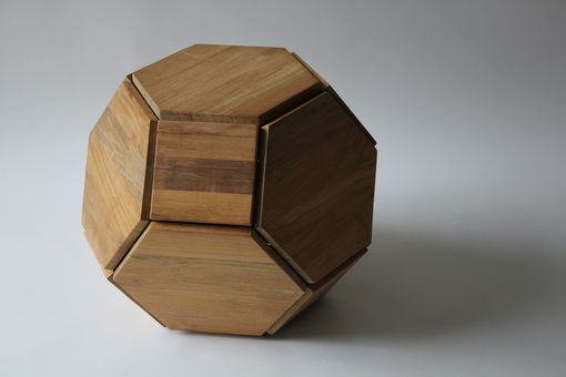 Custom Made Reclaimed Teak Orb. Seating Or Side Table.