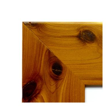 Custom Made Handmade Cedar Picture Frame - Red Cedar Photo Frame - Aromatic Cedar Custom Picture Frame
