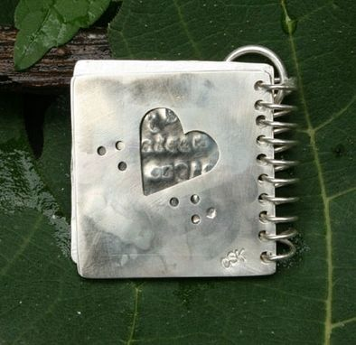 Custom Made Silver Notebook Pendant