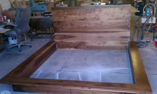 Custom Made Walnut Platform Style King Size Bed