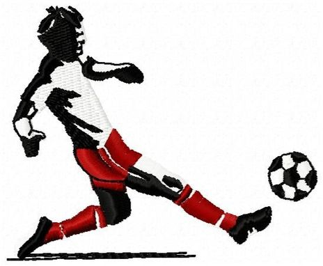 Custom Made Soccer Player Embroidery Design