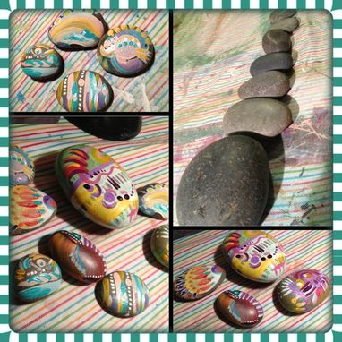 Custom Made Hand Painted River Rocks And Stones