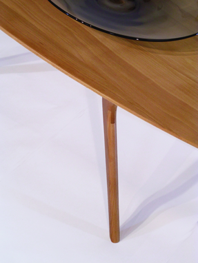buy a hand made modern coffee table, boomerang leg design with