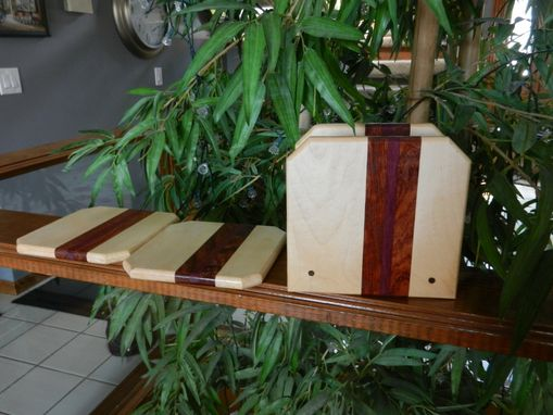 Custom Made Napkin Holder With 2 Matching Trivets