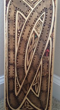 Custom Made Viking/Norse Dragon Cribbage Board