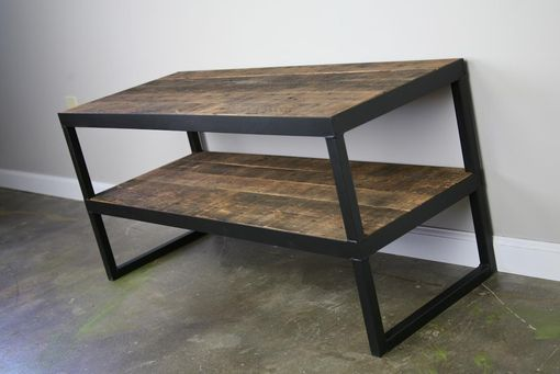 Buy A Hand Made Industrial Tv Stand Reclaimed Wood