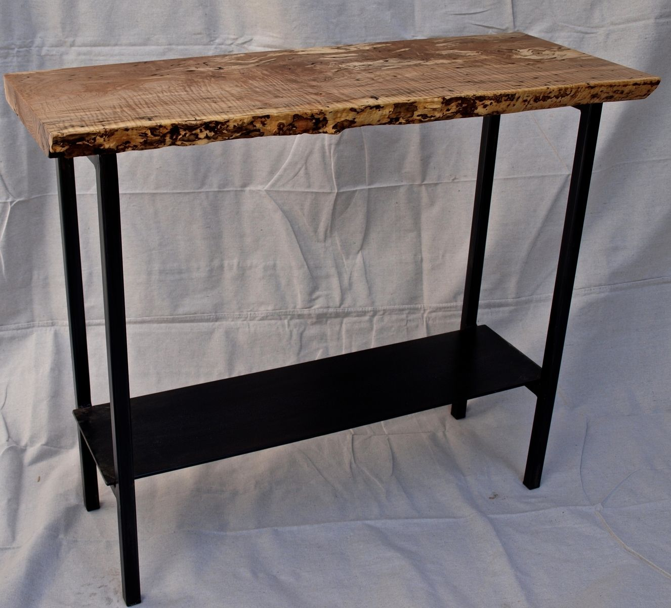Buy a custom made live edge spalted maple console table made to custom made live edge spalted maple console table geotapseo Image collections