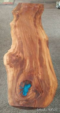 Custom Made Contemporary Live Edge Beech Table