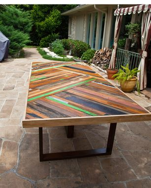 Custom Made Chevron Table
