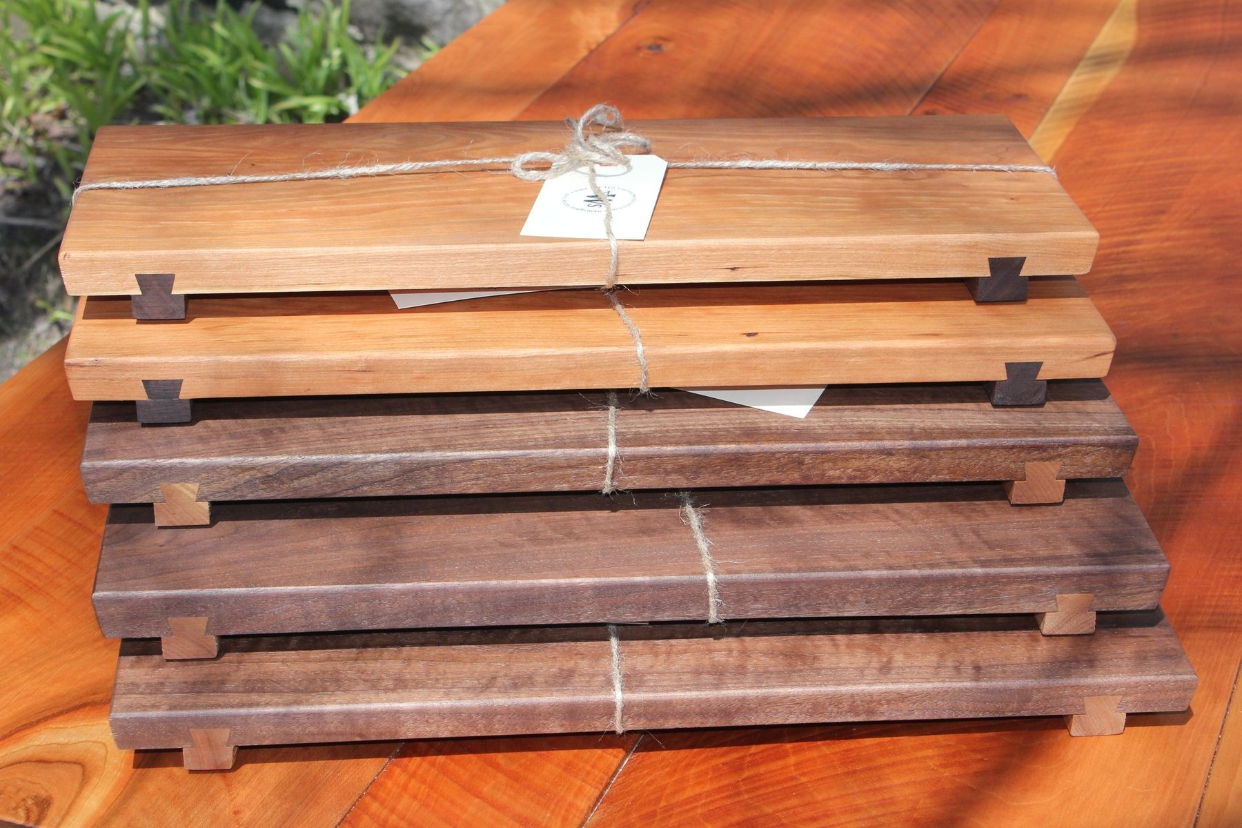 hand crafted contemporary cutting boards serving trays with  - custom made contemporary cutting boards serving trays with dovetailed feet