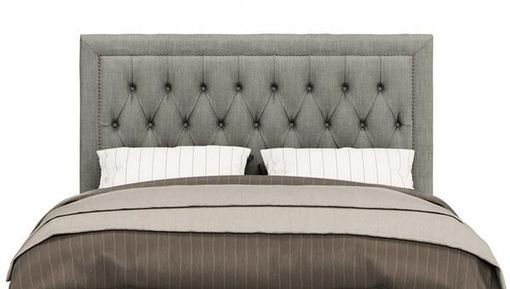 Custom Made Charming Custom Headboard With Nailhead And Tufting