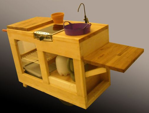 Custom Made Custom Wooden Mobile Kitchen Cart