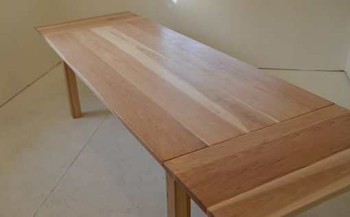 Custom Made Hickory Farm Table With Leaves