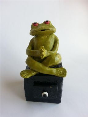 Custom Made Ceramic Frog On Box