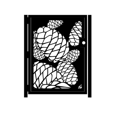 Custom Made Decorative Steel Gate - Pinecone Steel Art - Decorative Panel - Garden Gate - Handmade