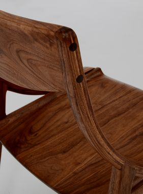 Custom Made Walnut Dining Or Side Chair