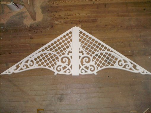 Custom Made Victorian Gingerbread Gable Decoration