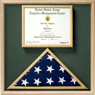 Custom Made Flag And Certificate Display Case From Original Uniform Fabrics