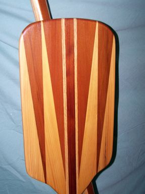 Custom Made Redwood, White Pine, & Ash Canoe Paddles