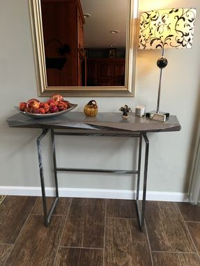 Custom Made Faceted Hall Accent Table