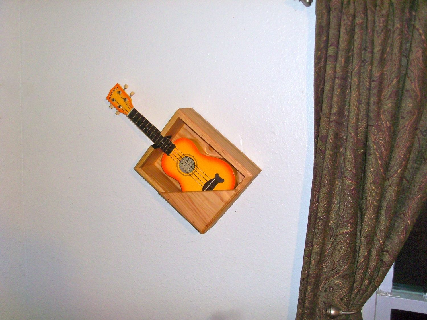 Buy a handmade wooden wall mounted shelf for guitar made to order custom made wooden wall mounted shelf for guitar amipublicfo Gallery