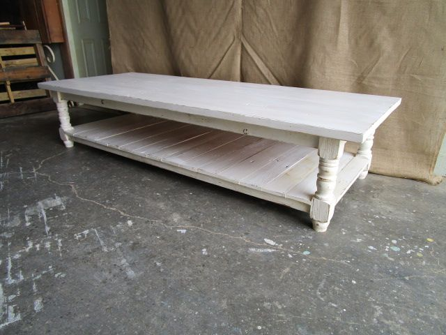 Custom Made Coffee Table From Reclaimed Wood In The Usa