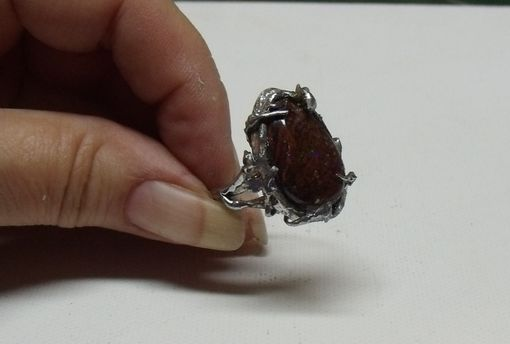 Custom Made Wicked Boulder Opal Ring