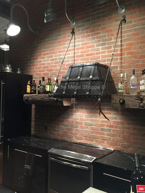 Custom Made Steel Kitchen Hood, Rustic