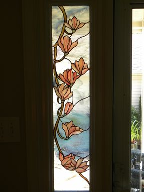 Stained Gl Sidelight Of Magnolia Blossoms