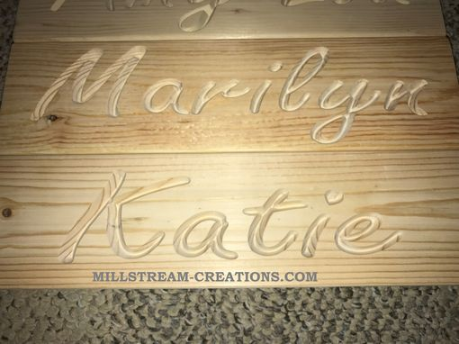 Custom Made Custom Cnc Carved Name Signs