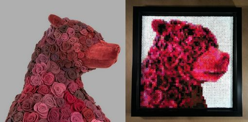 "Custom Made Custom Portrait - ""Love Bear"""
