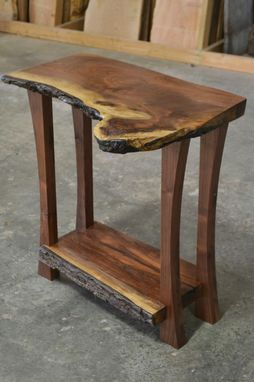 Custom Made Live Edge Walnut Console Table