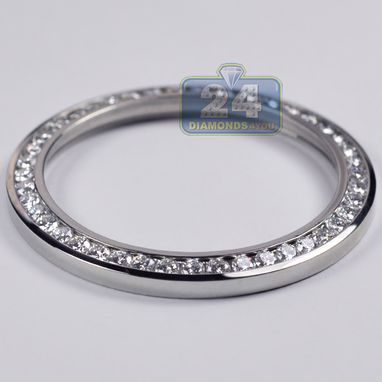 Custom Made Custom Made Channel Set 3.25 Ct Round Diamond Bezel For Rolex Datejust 41 Mm Watch
