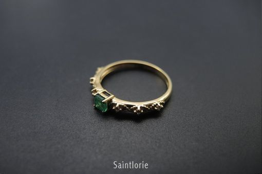 Custom Made 0.25 Carat Emerald Engagement Ring