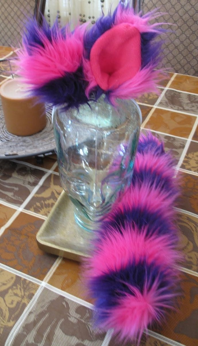 Custom Made Pink Purple Cheshire Cat Ears Amp Tail Set In 2