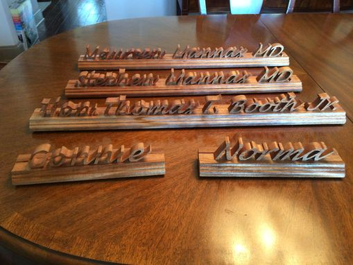 Custom Made Hand Made Wooden Desk Name Plate