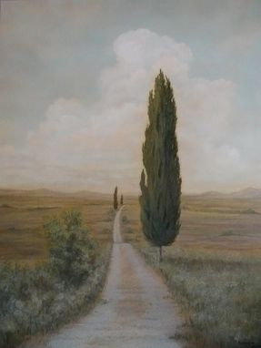 Custom Made Tuscan Landscape Painting