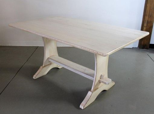Custom Made Nantucket White Custom White Trestle Farm Table