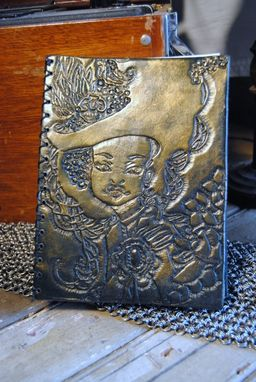 Custom Made Victorian Lady Leather Sketch Book