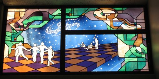 Custom Made Public Art Installation - Stained Glass