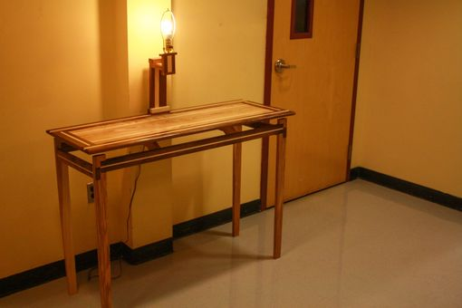 15 Entrance Hall Table Styles To Marvel At: Hand Made Floating Top Hall Table By Custom Grain