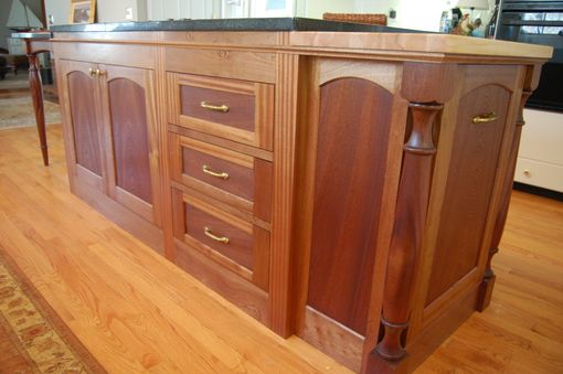 Custom Made Sapele Kitchen Island