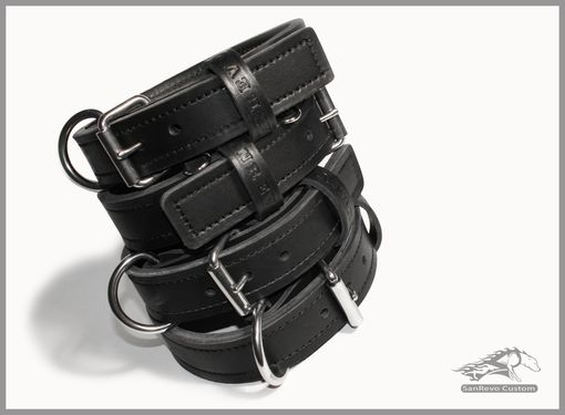 Custom Made Custom Handmade Double Ply Leather Dog Collar With Stainless Steel Hardware