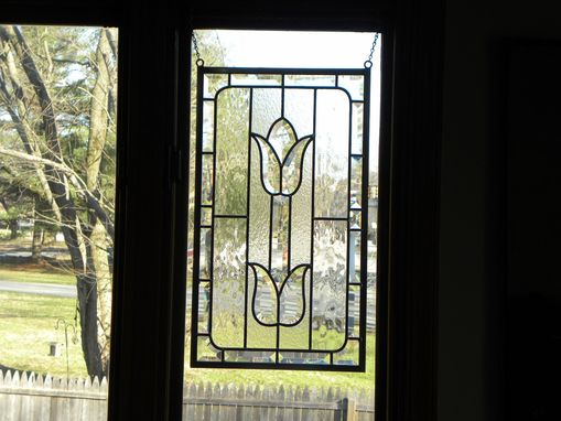 Custom Made Beveled Glass Window, Kitchen Cabinet Panel