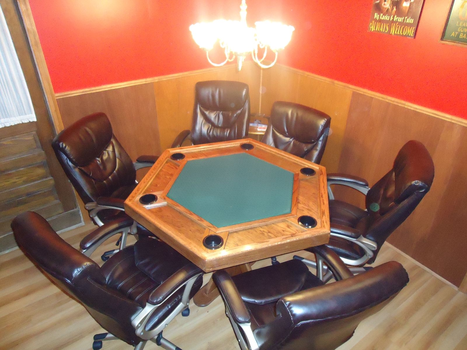 Hand Made Poker Table by Cjs Woodworks