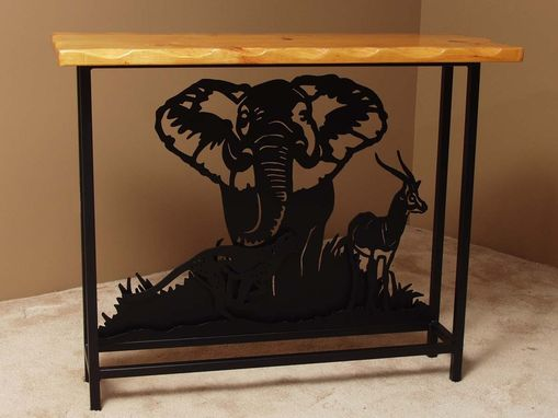 Custom Made African Hall Table