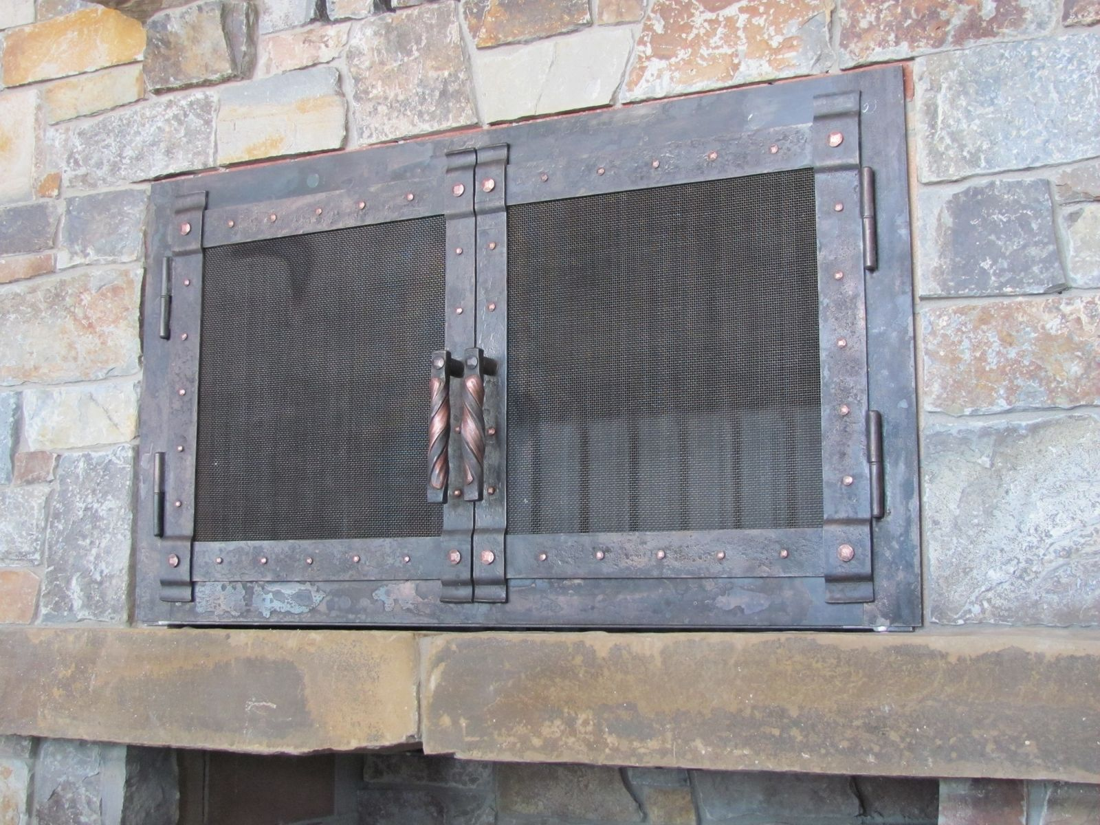 Hand Made Hand Forged Fire Place Doors And Screens by ...