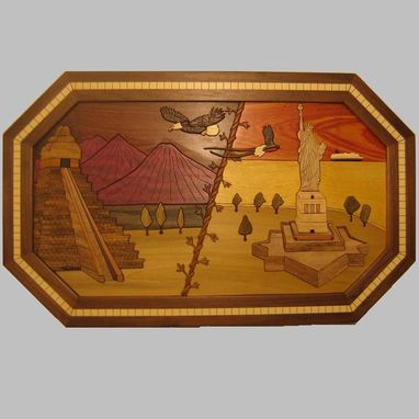 "Custom Made Framed Intarsia—""The Journey"""