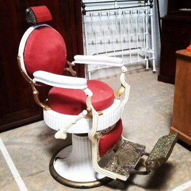 Custom Made 1920'S Koken Double Round Barber Chair